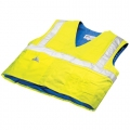 Evaporative Cooling Traffic Safety Vest - Hi Viz Lime - 2XL/3XL