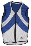 Evaporative Cycling Cool Vest - Blue/White - Small