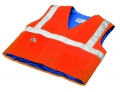 Evaporative Cooling Traffic Safety Vest - Orange - S/M