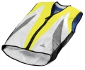 Evaporative Cycling Cool Vest - Lime/Silver/White - Small